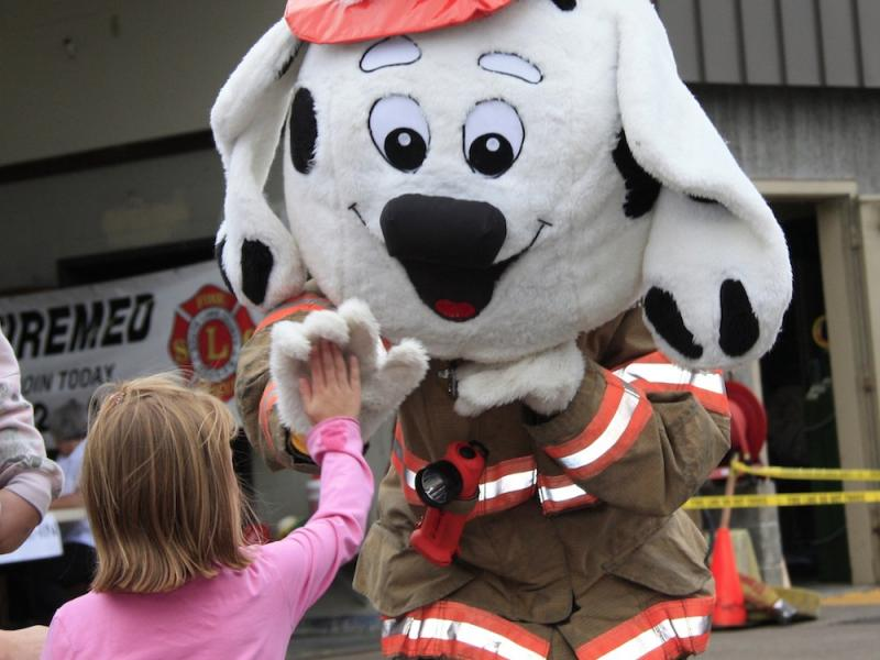 High Five Sparky the Fire Dog